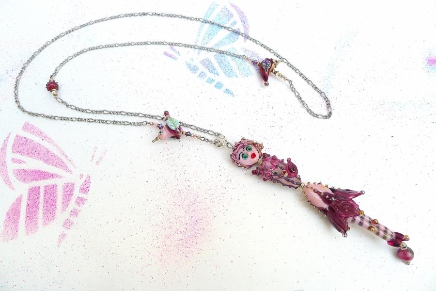 Víla Hortenzie - autorský náhrdelník