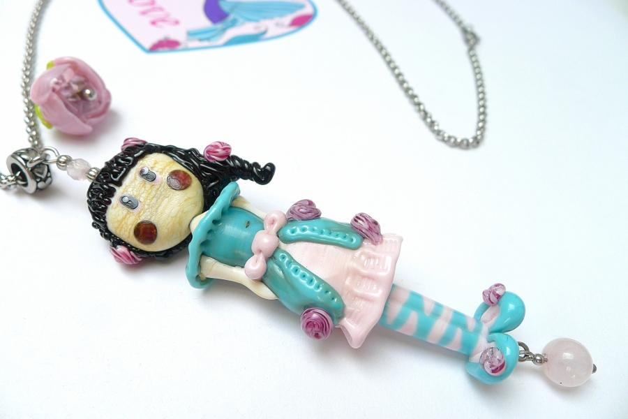 Růženka - autorský náhrdelník