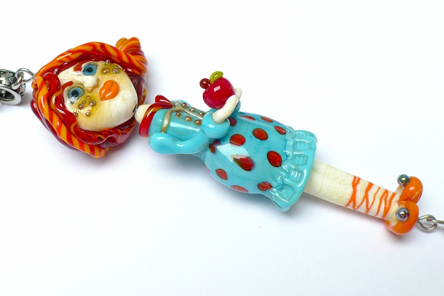 Dívka s jablky - autorský náhrdelník