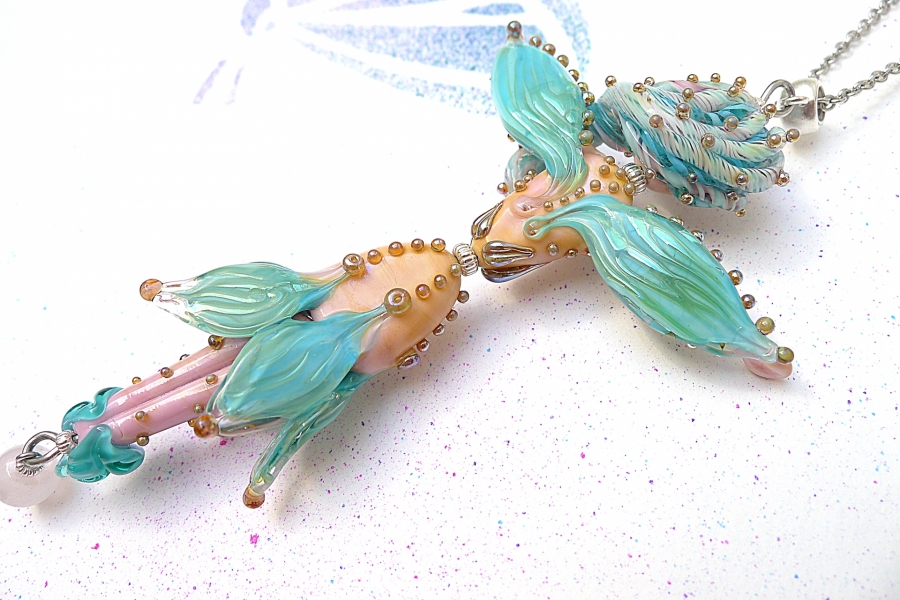 Víla Akvamarína - náhrdelník