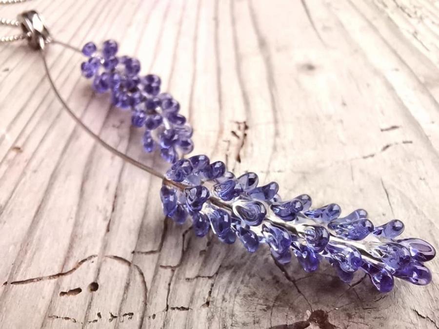 Levandule - fialové náhrdelník
