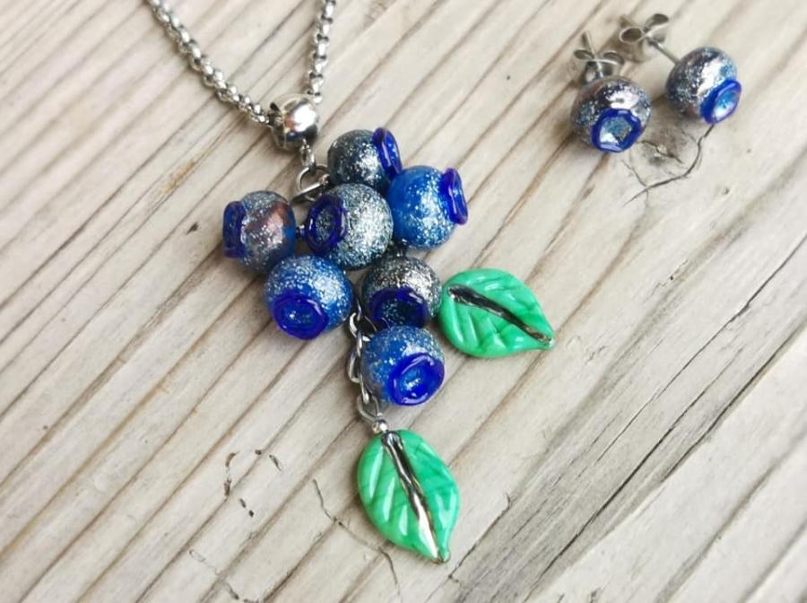 Borůvky - náhrdelník