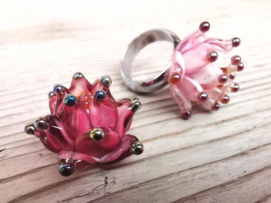 Lotosový květ - prsten
